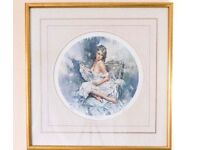 Gordon King Triology Picture Framed Prints. Satin , Silk & Lace