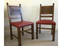 Pair of Oak Dining Chairs