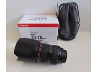 Canon EF 24-70mm f/2.8L USM Lens, Immaculate 10 months warranty left