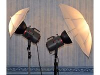 2 HEAD STUDIO LIGHTING KIT FOR SALE