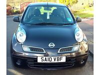 NISSAN MICRA 1.2, Black, 2010. MOT'd. Lady owner. Economic runner. Low insurance and tax.
