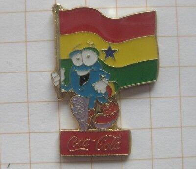 COCA-COLA / ATLANTA 1996 / IZZY / GHANA  FAHNE.... Sport Pin (177i)