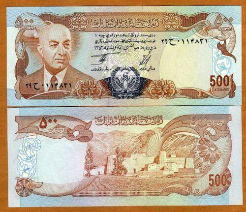 Afghanistan, 500 Afghanis, 1977, P-52 UNC > President Muhammad Daud