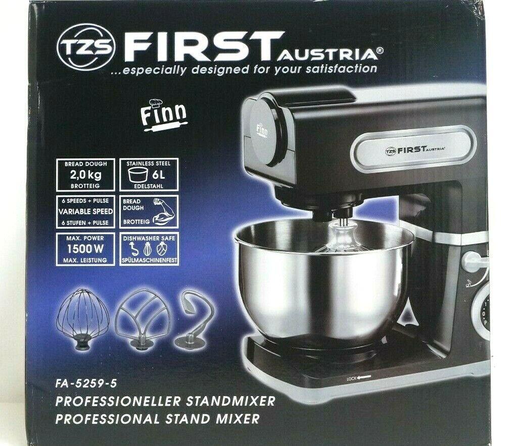 TZS FIRST AUSTRIA Küchenmaschine 6L Teig Knetmaschine Rührmaschine Teigkneter