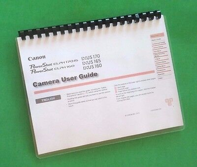 (Canon Elph 160, Elph 170 IS Camera 117 Page Laser 8.5X11
