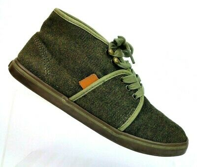 Vans Camryn Dark Olive Textile Mid-top Chukka Lace Up Skate Sneakers Women's 7.5 - Mid Dark Olive