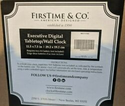 FirsTime Executive Digital Clock, Black