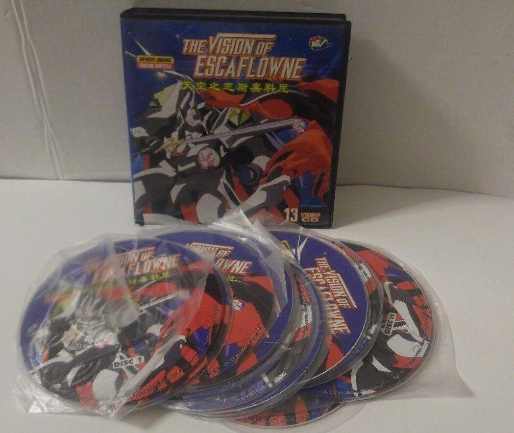 The Vision Of Escaflowne 13 Disc Video CD Japanese Anime English Subtitle RARE