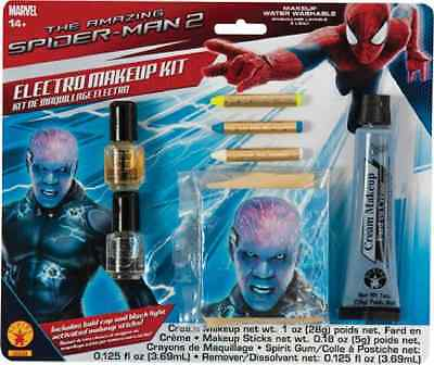 Spiderman Halloween Makeup (Electro Makeup Kit Spider-Man Villain Fancy Dress Halloween Costume)