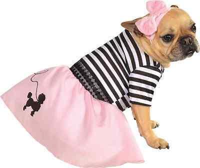 Fifties Girl 50's Sock Hop Poodle Skirt Dress Up Halloween Pet Dog Cat - Fifties Girl Kostüm