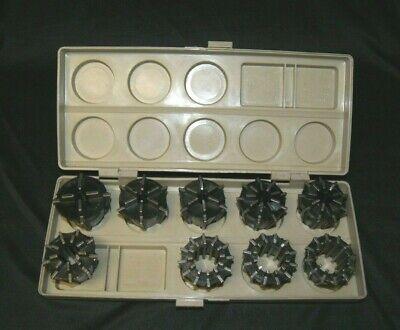 Jacobs 500 Series 9 Pc. Rubber Collet Set W Case