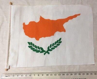 Travel Flag Triangle Souvenir Europe Cyprus White Orange Green Cypriot Map