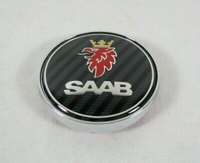 SAAB 93 9-3 SEDAN EMBLEM 03-07 REAR TRUNK CARBON FIBER BADGE sign symbol logo
