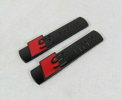 AUDI S LINE EMBLEMS A3 A4 A5 A6 A7 RED/BLACK FENDER/TRUNK BADGE sign symbol logo
