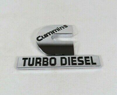 DODGE RAM CUMMINS TURBO DIESEL EMBLEM 06-12 FENDER CHROME BADGE sign symbol logo