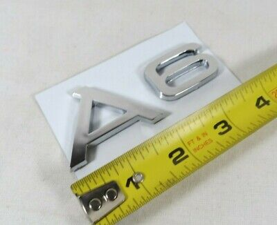 AUDI A6 EMBLEM 05-18 REAR TRUNK CHROME BADGE back sign logo symbol name