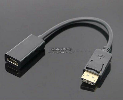 DP Displayport Male to HDMI Female Cable Converter Adapter for PC HP/DELL A144
