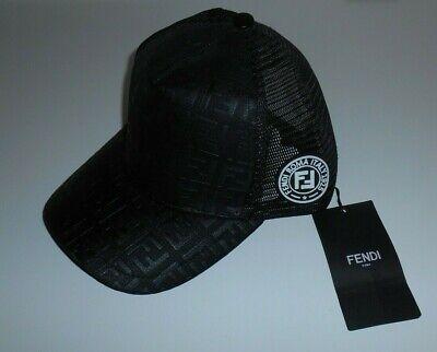 New NWT Fendi Men's Black Snapback Adjustable Hat Baseball Cap (Fendi Hat Mens)