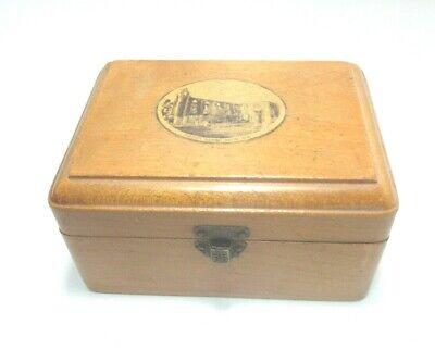 ANTIQUE MAUCHLINE SMALL WOODEN  BOX BOLTON ABBEY FROM N.E. TRANSFER WARE