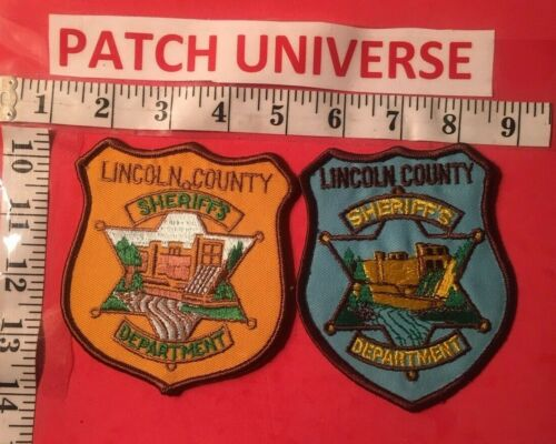 LOT OF TWO DIFFERENT LINCOLN  COUNTY MONTANA SHOULDER PATCHES  J068