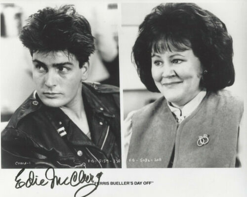 EDIE McCLURG autographed 8X10 photo FERRIS BUELLER'S DAY OFF with Charlie Sheen