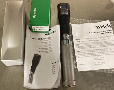 Welch Allyn 18245 Elite Streak Retinoscope Head Rechargeable Handle Battery Bulb