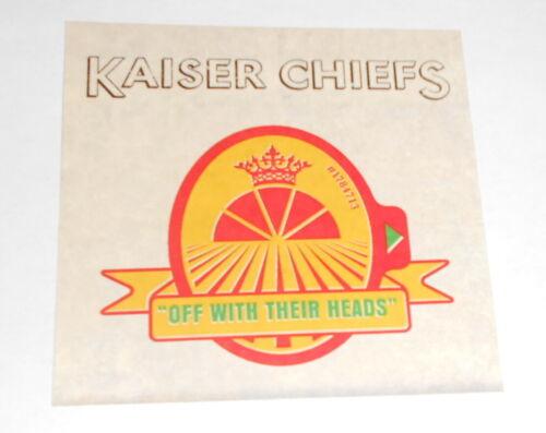 Kaiser Chiefs Off with Their Heads Sticker Original Promo (rectangle)