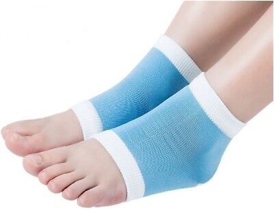 - Gel Heel Sleeve Ankle Compression Socks Moisturizing Dry Hard Cracked Foot Skin
