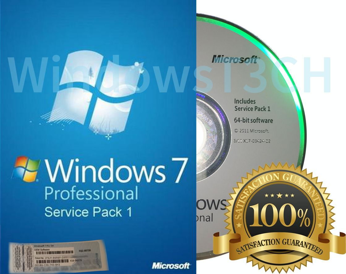 Microsoft Windows 7 Professional - 64 Or 32 Bit Full Vers...