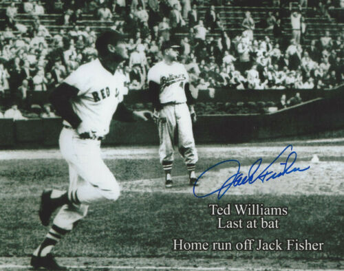 Ted Williams last HR autographed 8x10 photo by the pitcher Jack Fisher