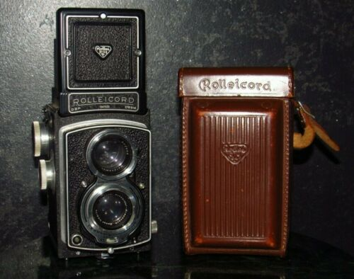 Vintage Rolleicord TLR Camera DBP DBGM Germany with Case Franke & Heidecke