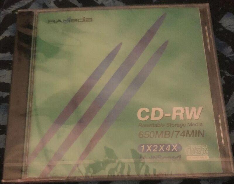 Ramedia CD-RW Rewritable Storage Media 650 Mb/74 Minutes SEALED 1x2x4x