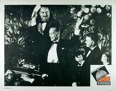 ADVISE AND CONSENT 1962 Franchot Tone Lew Ayres SAUL BASS LOBBY CARD