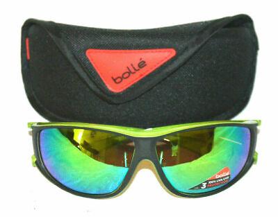 New Bolle Highwood Shiny Black Sunglasses With Case