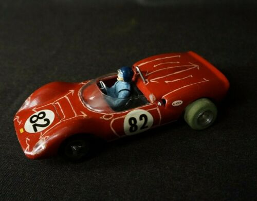 Vintage 1960's 1/24 Slot Car COX FERRARI DINO Red # 82