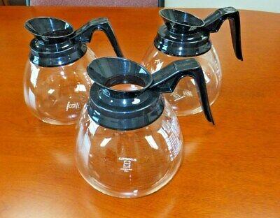 3 Coffee Potdecantercarafe Black 64 Oz For Commercial Bunn Machines - New
