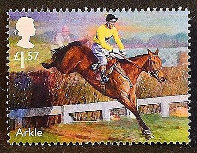 """Racehorse Legend """"Arkle"""" illustrated on 2017 stamp - Unmounted mint"""