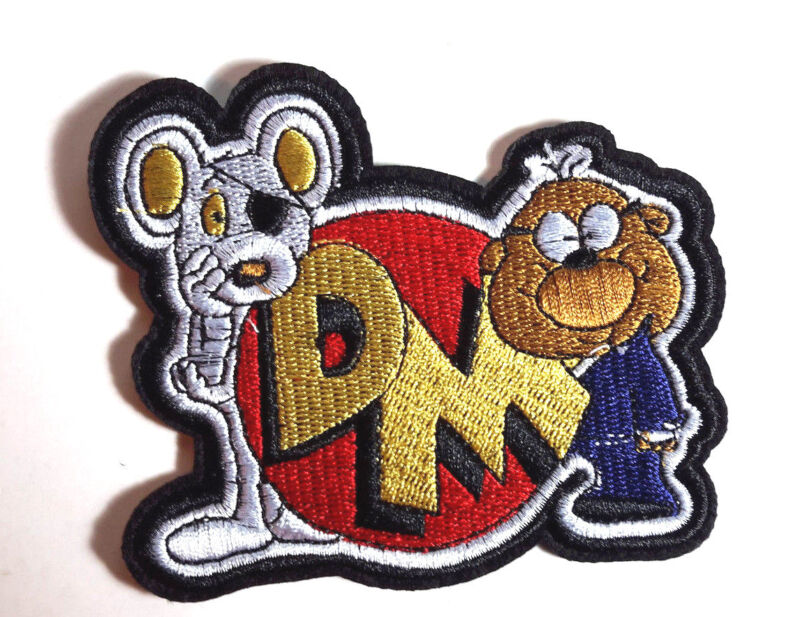 """Danger Mouse Logo Die Cut 4"""" Wide Embroidered Patch- Mailed from USA(ANPA-DM-02)"""