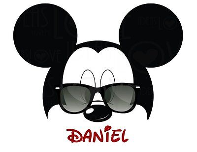 DISNEY MICKEY MOUSE  PERSONALIZED FABRIC/T-SHIRT IRON ON TRANSFER