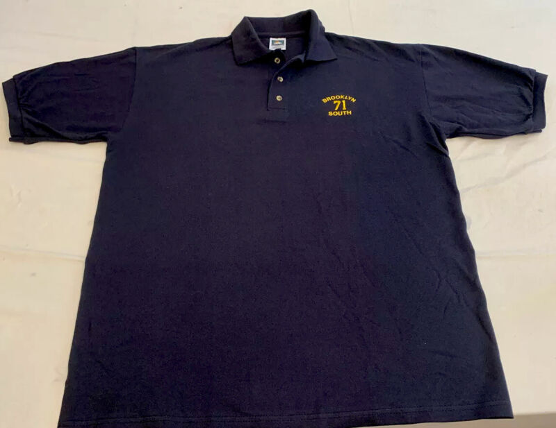 NYPD New York City Police Department Polo T-Shirt Sz L NEW Brooklyn South