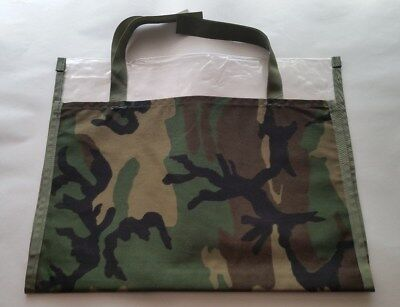 Waterproof Map Document Canvas Roll Up Case Tactical Woodland Camo -