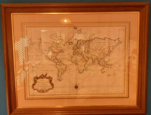 World map bellin 1748