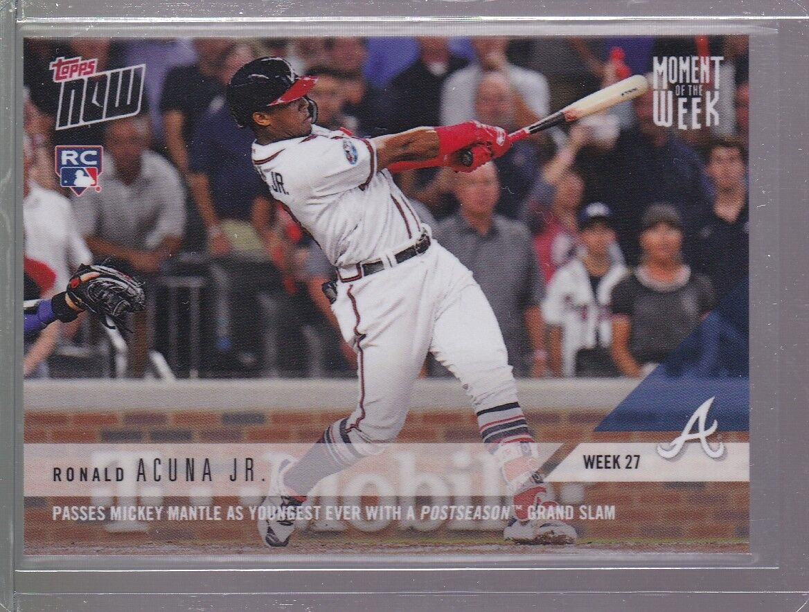 2018 Topps NOW MLB MOW-27 Ronald Acuna Jr RC (Moment of the Week 27) PR 1035