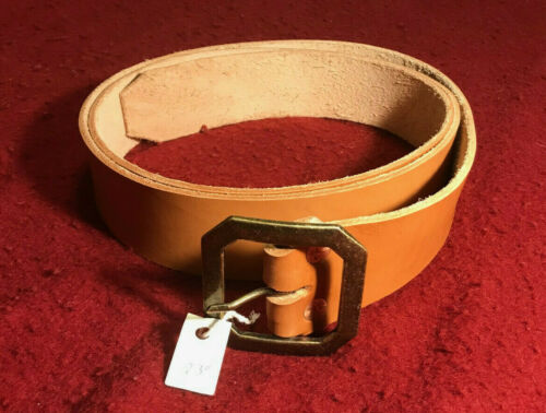 "2"" x 73""  leather belt w/brass buckle Royal Ranger/FCF/mountainman/reenactment"