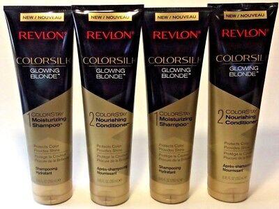 (4) REVLON Colorsilk GLOWING BLONDE Colorstay 2 SHAMPOO & 2 CONDITIONER 8.45 (Revlon Colorsilk Conditioner)