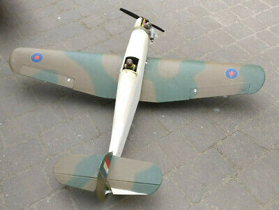 "50"" Hurricane model RC plane aeroplane - renovation project requires finishing"