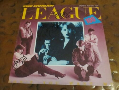 Human League signed autographed photo by 3 Don