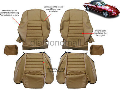 Alfa Romeo 1969-1994 Spider 1750 2000 Vinyl Seat Covers Replacement Upholstery