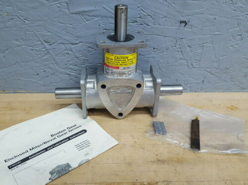 Boston Gear RA1031 1:1 Ratio 1750RPM 2.19HP Dual Output Right Angle Gearbox NEW