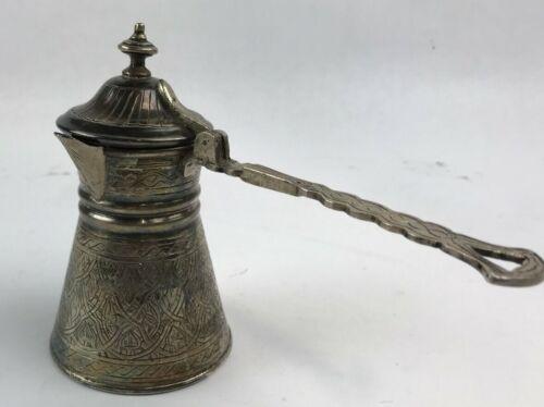 Hallmarked .900 Silver Ottoman / Turkish / Arab Espresso Coffee Maker.